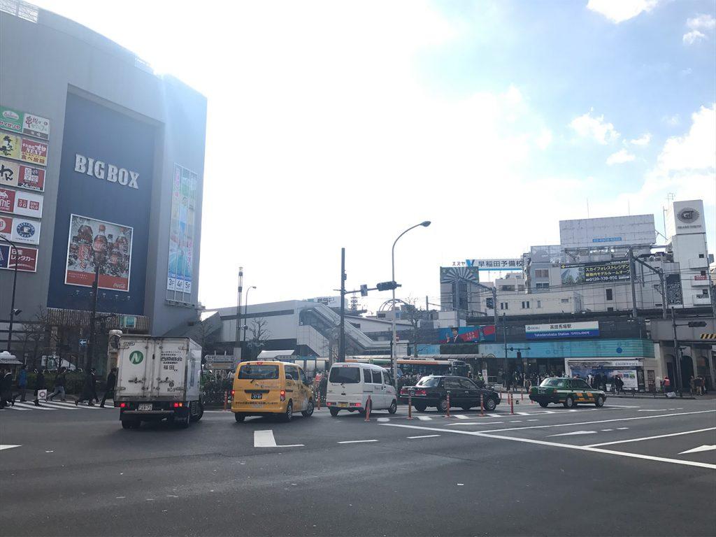 高田馬場駅前の風景02