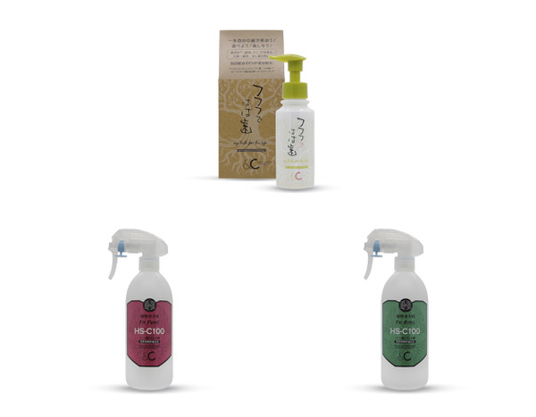 &Cオリジナル商品の歯磨きジェルと植物活力剤